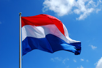 Vlag in top